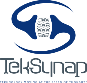 TekSynap Stacked Logo Flat with Tagline