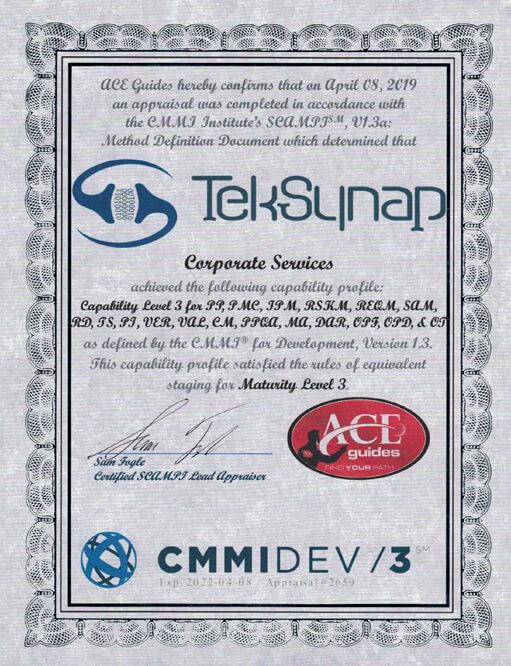 Certifications - TekSynap