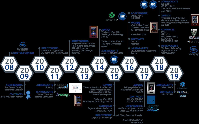 TekSynap Company Timeline