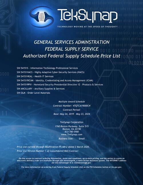 GSA Multiple Award Schedule (MAS)