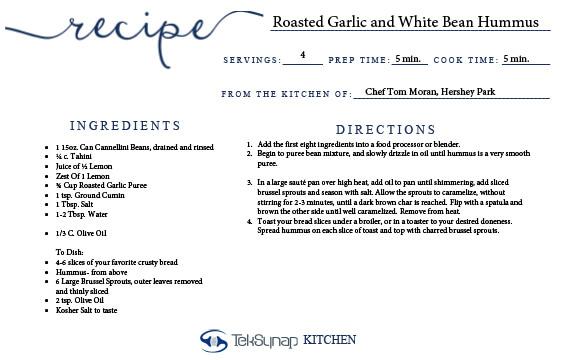 Roasted Garlic and White Bean Hummus