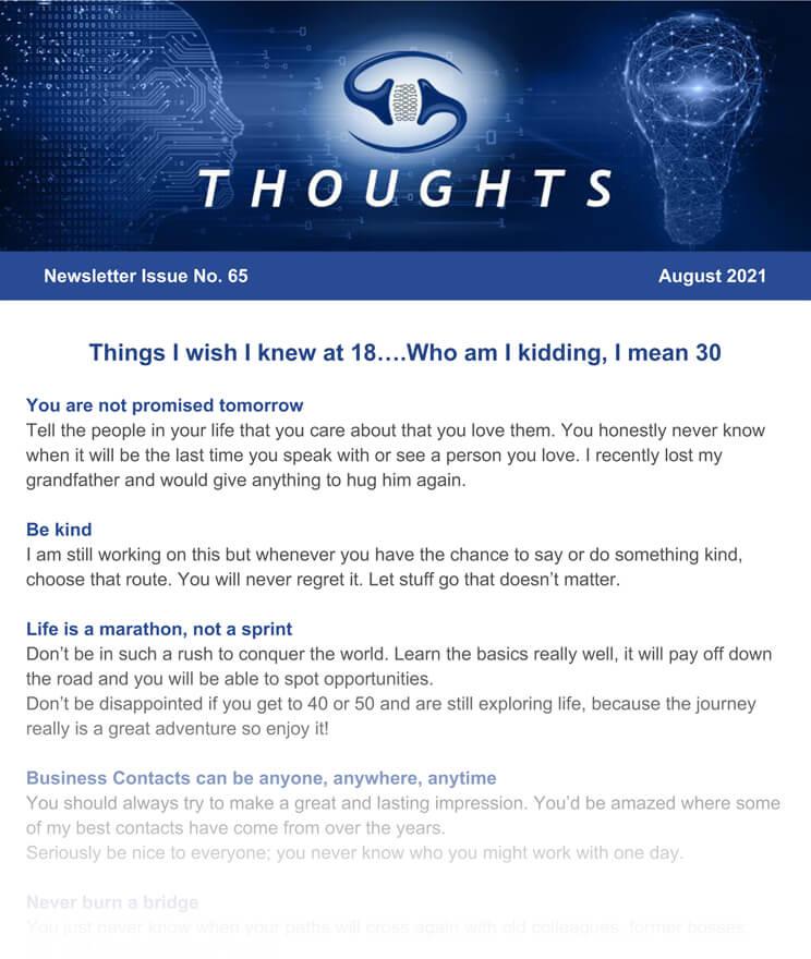 August 2021 Newsletter